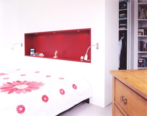 Schlafzimmer-rot
